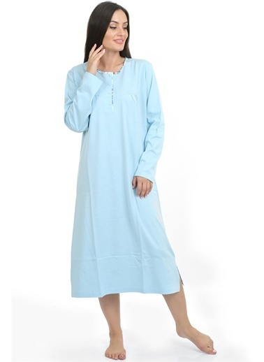 Akbeniz Bayan Gecelik 86830 Mavi